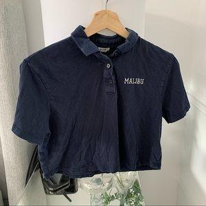 GARAGE   Malibu cropped polo tee size XS